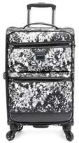 Isaac Mizrahi Boldon 22-Inch Spinner Carry On in Black/White