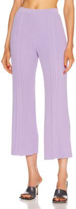 Dion Lee Pinnacle Pleat Cropped Pant in Violet | FWRD