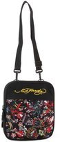 Ed Hardy Caprio All Over Collage Messenger Bag