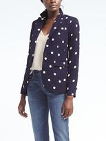 Banana Republic Long and Lean-Fit Dot Blazer