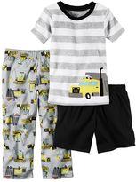 Carter's Boys 4-8 Construction 3-Piece Pajama Set