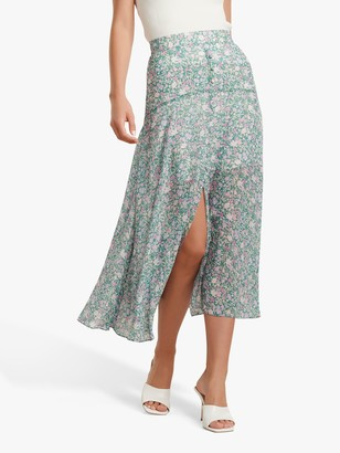 Forever New Bronte Ditsy Meadow Print Midi Skirt, Multi