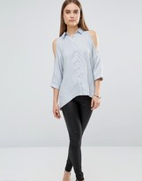 AX Paris Cold Shoulder Shirt