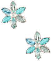 Anne Klein Cubic Zirconia Flower Clip-On Earrings