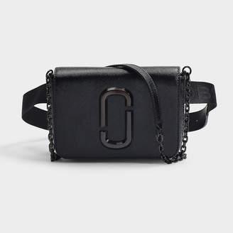 Marc Jacobs Hip Shot Dtm Bag In Black Split Cow Leather With Polyurethane Coating