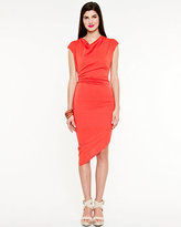 Le Château Jersey Knit Asymmetrical Dress