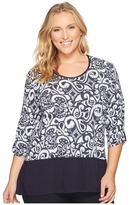 Extra Fresh by Fresh Produce - Plus Size Wander Windfall Top Women's Blouse