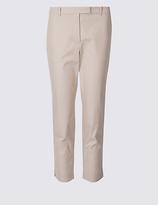 M&S Collection PETITE Cotton Rich Slim Leg Trousers