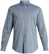 Glanshirt Ween polka-dot embroidered cotton shirt