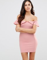 Oh My Love Bardot Frill Bodycon Dress