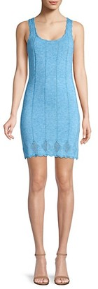Victor Glemaud Sleeveless Scalloped Crochet Bodycon Dress