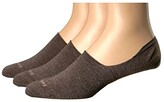 Feetures Hidden Socks 3-Pair Pack (Taupe) Men's No Show Socks Shoes