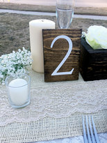 Etsy Wedding Double Sided Table Numbers, Vertical Wooden Table Numbers, Rustic Table numbers, Wood Table