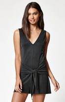 KENDALL + KYLIE Kendall & Kylie Cupro Ribbed Tie Front Romper