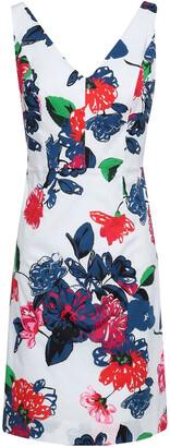 Milly Floral-print Stretch Cotton-poplin Mini Dress