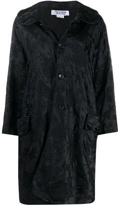 Comme des Garçons Comme des Garçons Floral-Jacquard Cocoon Coat