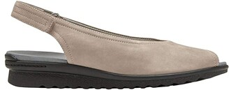 Aravon Josie Slingback (Black Smooth) Women's Sandals
