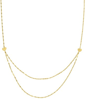 Saks Fifth Avenue 14K Yellow Gold Heart Double-Chain Necklace