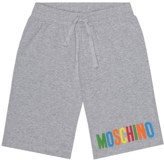 MOSCHINO BAMBINO Logo stretch-cotton shorts