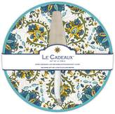 Le Cadeaux Allegra Turquoise - Cake Plate with Laguiole Cake Server Gift Set