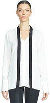 1 STATE Tie-Neck Blouse