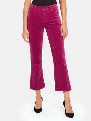 J Brand Selena Mid Rise Crop Velvet Bootcut Jeans