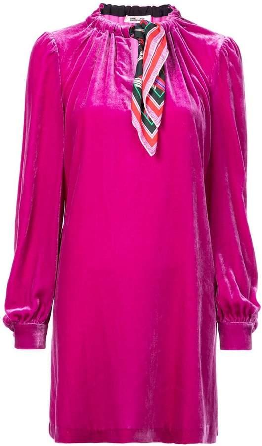 Diane von Furstenberg ruched neck shift dress