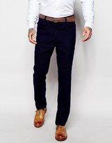 Asos Slim Suit Pants In Herringbone