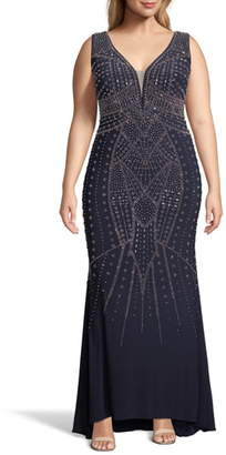 Xscape Evenings Beaded Evening Gown