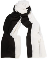 Magaschoni Two-tone cashmere scarf