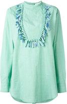 Ports 1961 fringed trim blouse - women - Cotton - 38