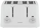 Cookworks KT-223 4 Slice Toaster - White