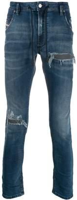Diesel distressed ripped jeans