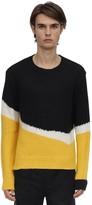 Neil Barrett Striped Alpaca Blend Knit Sweater