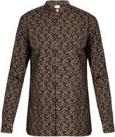 Paul Smith Floral-print Mandarin-collar cotton shirt