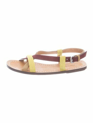 Isabel Marant Suede Ankle Strap Sandals Lime