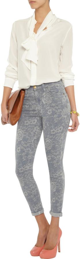 Current/Elliott The High Waist skinny printed jeans