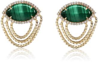 Sorellina Axl Diamond & Semiprecious Stone Earrings