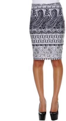 White Mark Women's Printed Pencil Skirt