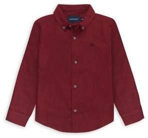 Calvin Klein Jeans Boy's Herringbone Cotton Shirt