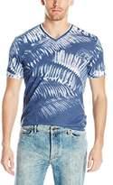 Calvin Klein Jeans Men's Short Sleeve Weekend Palms V-Neck T-Shirt