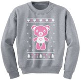 TeeStars Big Pink Furry Bear Doll - Cute Ugly Christmas Sweater Kids Sweatshirt
