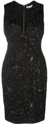 Alice + Olivia Sequin Lace Dress