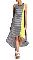Spense Sleeveless Hi-Lo Colorblock Tank Dress