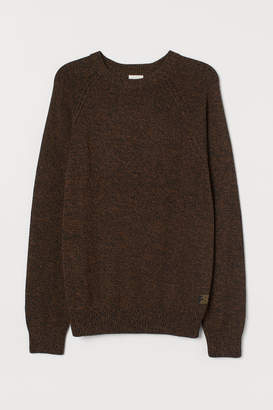H&M Fine-knit Cotton Sweater - Brown