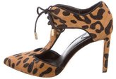 Brian Atwood Leopard Lace-Up Booties
