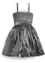 Un Deux Trois Girl's Iridescent Sequin Dress
