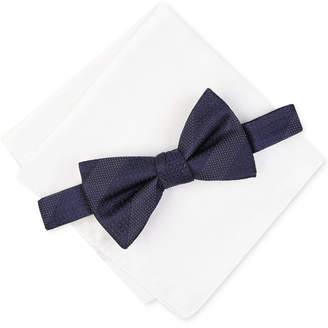 Alfani Men Crispin Stripe Bow Tie & Pocket Square Set