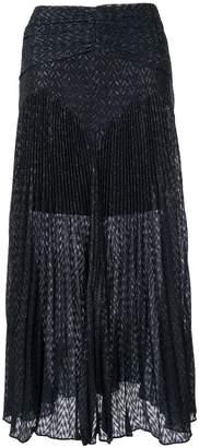 Self-Portrait Metallic Fil Coupe Maxi skirt