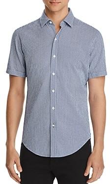 HUGO BOSS Robb Short-Sleeve Fish Print Regular Fit Shirt